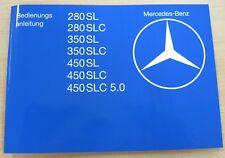 Original Manuel Mercedes-Benz w107 280sl-450slc 5.0 Neuf Reproduction Fra