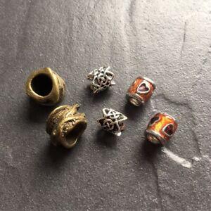 Dreadlock beads, dread, hair braid, beard beads assorted 4mm, 4.5mm, 8mm holes.