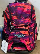Quality Speedo Teamster Durable Backpack Abrasion Resistance Camo Purple 25L New