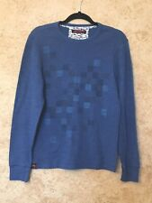 STYLISH Hawk Mens Long Sleeve Sweatshirt Blue Size Medium