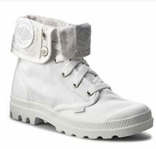 & Palladium Baggy Cuff womans White Hiking ankle Boots shoes canvans UK 7H S,