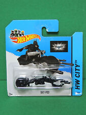 Hot Wheels #64 BAT-POD Batman moto - HW City Mattel 2014 DC comics - BFC76