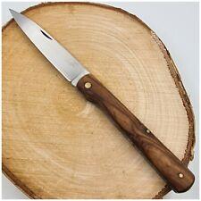Couteau de Poche CUDEMAN vendetta cran forcé plaquettes en olivier-Pocket knife