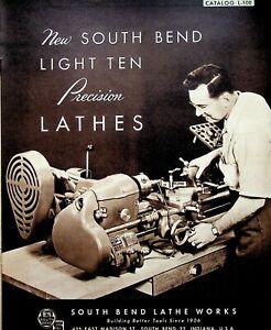 """Vintage 1950 Original South Bend Lathe Catalog #L-10E Light Ten 10"""" Lathes"""