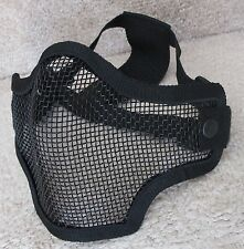 Extra Strong Airsoft & Paintball Game Protection Metal Mesh Half Mask