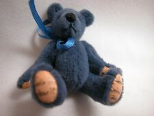 "World of Miniature Bears 2.5""Plush Bear Navy #318 Closing"