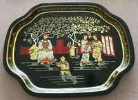 VINTAGE MID CENTURY Oriental CHINESE Metal Serving Tray