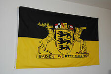 FAHNE FLAGGE 0019 BADEN  WÜRTTEMBERG LANDESSIEGEL  NEU 90 x 150cm LÄNDERFLAGGE