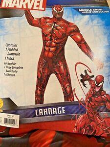 Marvel Carnage Halloween Costume Teen 28-30 Jumpsuit Mask New