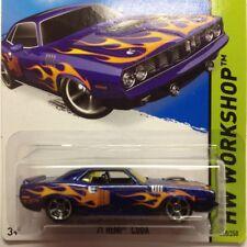 NEW Hot Wheels 71 Hemi Cuda 2015 No 210 Blue Genuine Sealed Mopar Long Card