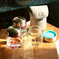 Leakproof Mini Glass Water Cup Seal High Temperature Resistance Water Bottle