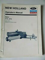 New Holland Baler 570, 575 Operator's Manual Issue 12-90