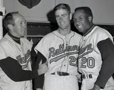 BROOKS ROBINSON JIM PALMER & FRANK ROBINSON THE ORIOLES LEGENDS CLASSIC 8X10
