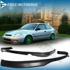 FOR 99-00 HONDA CIVIC TYPE R STYLE FRONT + REAR BUMPER LIP SPOILER BODYKIT