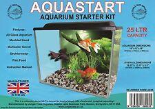 "AQUASTART 25Ltr Aquarium Starter Kit 16 x 12 x 8"" con Filtro"