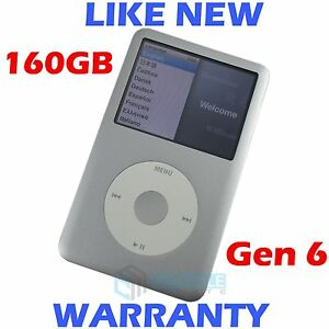 Apple IPOD CLASSIC - 6th Generation - 160GB - Silver - Refurbished like new!
