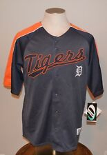 Detroit Tigers Baseball Jersey Mens Dynasty MLB Button-Front Shirt M Medium