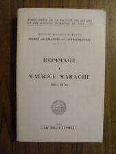 HOMMAGE A MAURICE MARACHE 1916-1979 ( études Allemandes et Autrichiennes )