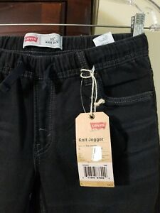 New Levi 511 Boy Large (L) Black Knit Jogger Pants, Retail Price $48.00
