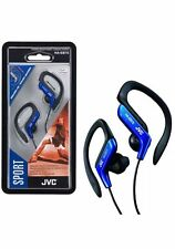 JVC HA-EB75 SPORTS ADJUSTABLE EAR CLIP EARPHONES HEADPHONES GYM JOGGING BLUE