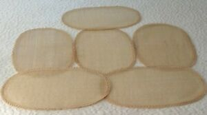 Raffia Woven Braided Oval Placemats Set of 6 Textured Casual Boho Beachy Flax