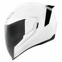 *FREE SHIPPING* Icon Airflite Gloss White Full Face DOT Motorcycle Helmet