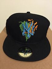 New Era Cap 59Fifty NY New York NBA Fitted Hat Black/Blue Size 7 3/8 58.7cm