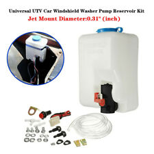 Universal UTV Car Windshield Washer Pump Reservoir Storage Kit 12V Washer Flui
