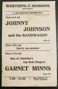 GARNET MINNS JOHNNY JOHNSON PIER PAVILION UK 1969 Handbill Flyer VERY RARE SALE