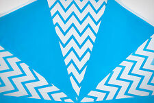 Azul de bebé empavesado Raya Zig Zag su decoración de cumpleaños de un niño 30m 60 3 Packs Banderas