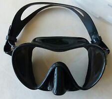 New listing Sopras Sub Occhio Frameless Mask Black, Silicone Scuba Diving, Freediving