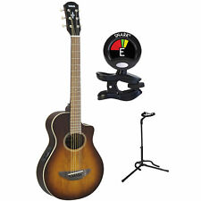 Yamaha Apxt2Ew Tbs 3/4 Mini Thinline Acoustic Electric Guitar w/ Stand & Tuner 00000445