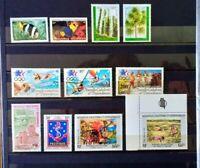 Timbres Nouvelle Calédonie ** (1984) - Poste Aérienne - n°236 à 246 - cote =48,9