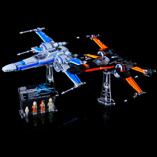 Custom Acrylic Display Stand&UCS Plaque for LEGO 75149 75102 X-wing Starfighter