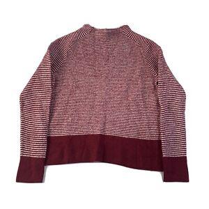 Sportscraft Womens 100% Merino Wool Red Striped Jumper Plus Sz XL Long Sleeve