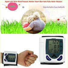 OE Digital LCD Wrist Blood Pressure Monitor&Heart Beat Rate Pulse Meter Measure
