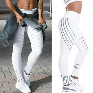 Women's High Waist Yoga Pants Scrunch Push Up Leggings Workout Skinny Trousers