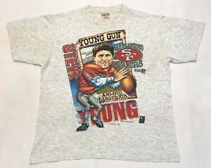 Vintage Shirt Xplosion 1993 NFL Steve Young San Francisco 49ers T-Shirt Gray L