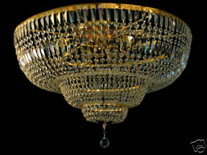 LARGE ROYAL CEILING CHANDELIER WITH REAL CRYSTALS Ø 80 cm or Ø 130 cm (2000 GBP)