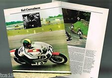 vintage KEL CARRUTHERS MOTORCYCLE Racing Article / Pictures / Photos