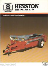 Farm Equipment Brochure - Hesston - S370 et al - Manure Spreaders - 1989 (Fb542)