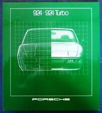 PORSCHE 924 - 924 TURBO BROCHURE 1981. (GERMAN TEXT).