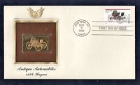 1995 Gold Stamp First Cover Antique Automobiles 1894 Haynes