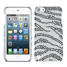 For iPod Touch 5 5th gen Crystal Diamond BLING Hard Case Snap On Cover Zebra