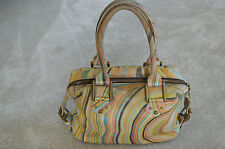 Paul Smith Womens Swirl Multicolour Ladies Genuine Leather Bowler Zip Handbag