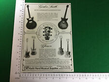 Gordon Smith Graduate Gypsy 1 electric guitar advert Gherson dealer advert 1979