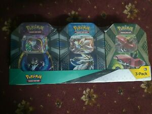 SOLGALEO LUNALA TAPU BULU GX 3 X POKEMON Mysterious Powers TinS Sealed TCG NEW