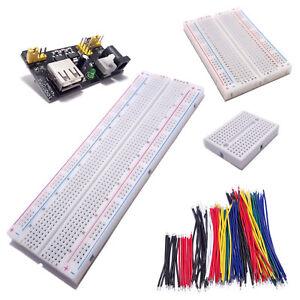 Breadboard Plaque d'essais 170/400/830 points /130 Câbles /Alim USB Arduino Test
