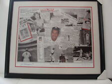 "Yankees Joe Dimaggio autographed ""Legacy"" framed lithograph w/ COA"