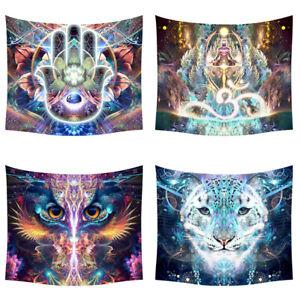 Mandala Animal Tapestry Wall Hanging Carpet Art Paintings Beach Towel Home Decor